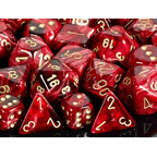 Dice 7-set Vortex (16mm) 27434 Burgundy / Gold