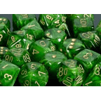Dice 7-set Vortex (16mm) 27435 Green / Gold