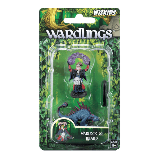 Mini - Wardlings : Boy Warlock and Lizard