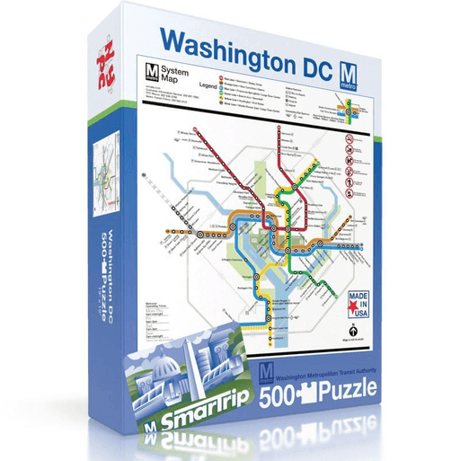 Puzzle (500pc) Map : Washington DC Metro System