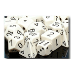 Dice Set 36d6 Opaque (12mm) 25801 White / Black