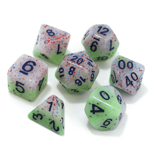 Dice 7-Set Flake (16mm) Witch's Robe