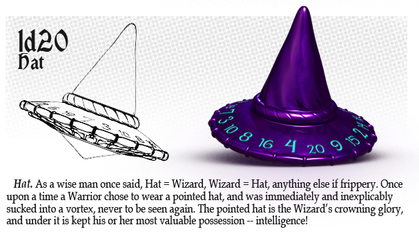 Polyhedral Dice d20 : Wizard Hat