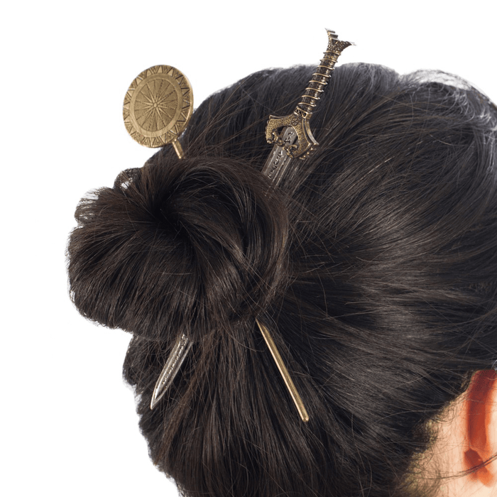 Wonder Woman Hair Sticks : Sword & Shield