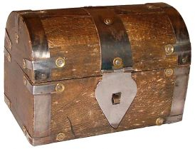 Wood Box (3in) Treasure Chest