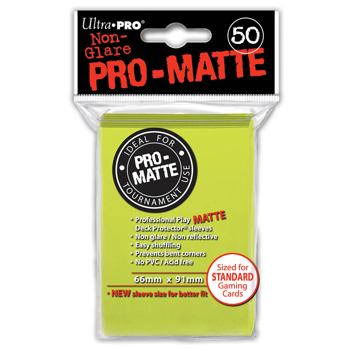 Sleeves Ultra Pro (50ct) Pro Matte : Yellow