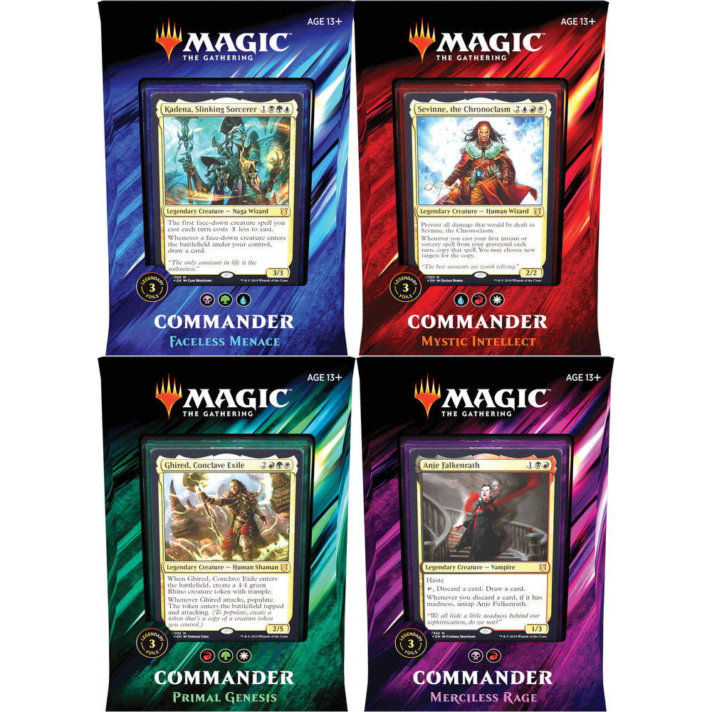 MTG Commander 2019 All Four Decks