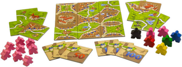 Carcassonne (2nd ed) Expansion : 1 Inns & Cathedrals