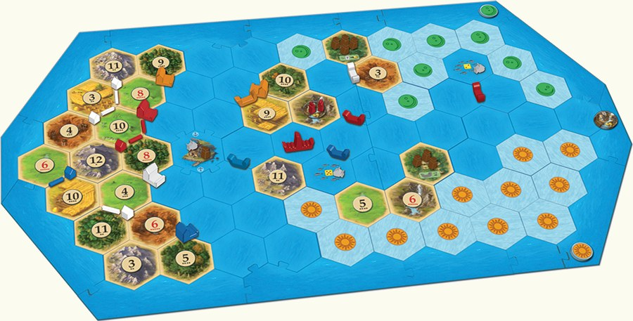 Catan (5th ed) Expansion : Explorers and Pirates