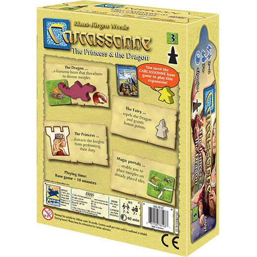 Carcassonne (2nd ed) Expansion : 3 The Princess and the Dragon