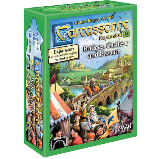 Carcassonne (2nd ed) Expansion : 8 Bridges, Castles, & Bazaars