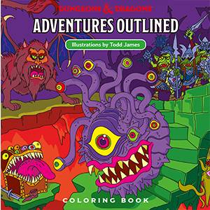 Coloring Book D&D Adventures Outlined by Todd James