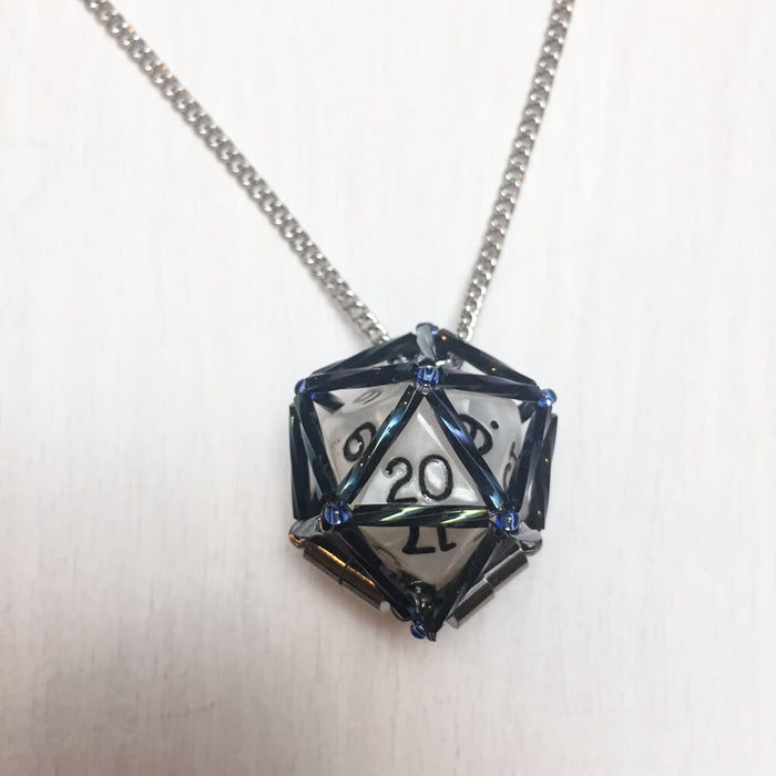 Necklace d20 : Midnight Blue