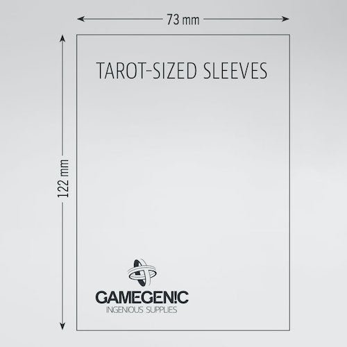 Sleeves Gamegenic Tarot (Orange 73x122mm 50ct) Clear