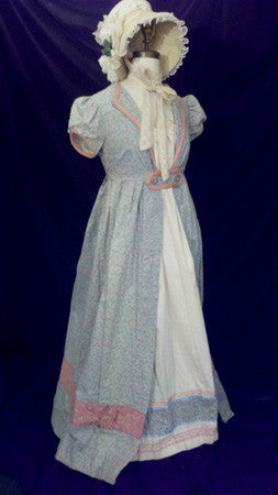Blue Cotton Regency Day Dress