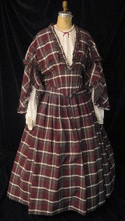 Plaid Civil War Era Dress