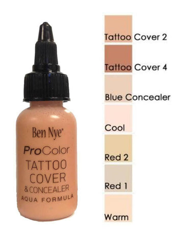 Ben Nye ProColor Airbrush Paint - Beauty Series - Tattoo Covers & Concealers