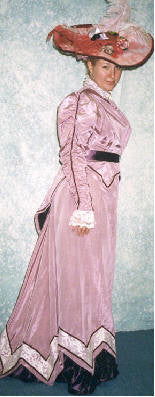 Pink Ladies Late 19th Century Dress