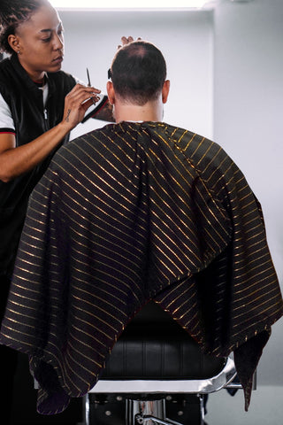 The Barber Cape - 24K Gold Collection