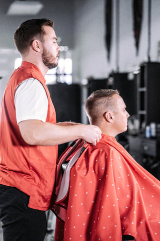 Red Cape for Barber Shops | Barber Supply Apparel