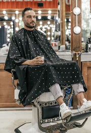 Barber Shield Cape | Barber Strong Barber Apparel | Capes for Barber Shops