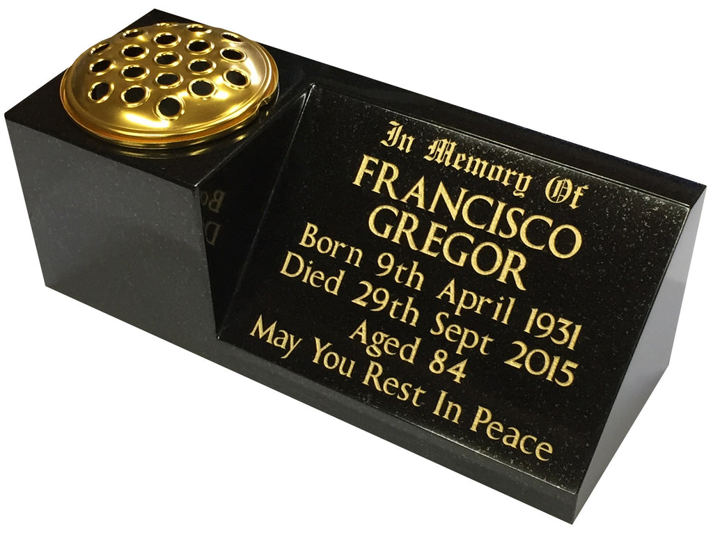 Personalised Granite Memorial Vases Delivered In 5 Days Memorial