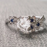The Dogwood All Sapphire Engagement Ring