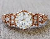 The Florence GH white Moissanite
