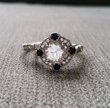 The Charlotte (Black Onyx and Diamond halo)