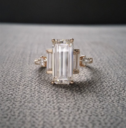 The Ingrid EF White Moissanite