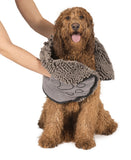 The Dirty Dog Shammy by Dog Gone Smart. Super Absorbent Microfiber Towel. Quickly Dry your Dog! Two hand pocket design
