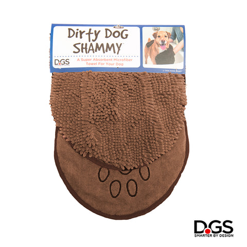 The Dirty Dog Shammy by Dog Gone Smart. Super Absorbent Microfiber Towel. Quickly Dry your Dog! Brown Dirty Dog Shammy.