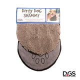 The Dirty Dog Shammy by Dog Gone Smart. Super Absorbent Microfiber Towel. Quickly Dry your Dog! Grey Dirty Dog Shammy.