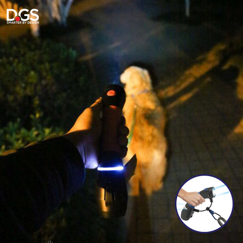 Gismo LED Rechargeable flashlight with front and rear light. Keep your self and your dog safe at night.