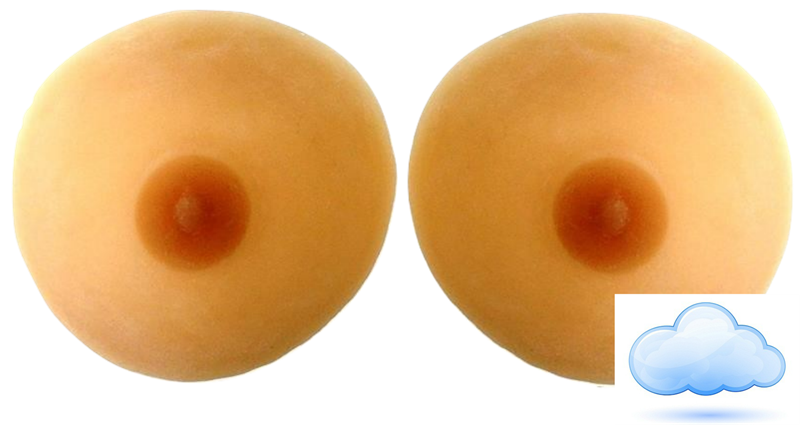 Pals Breast Forms- Raindrop ULTRALIGHT Series, LEVEL 2 - Crossdresser Accessories