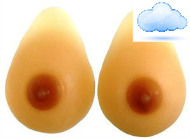 Pals Breast Forms- Teardrop ULTRALIGHT Series, LEVEL 4 - Crossdresser Accessories