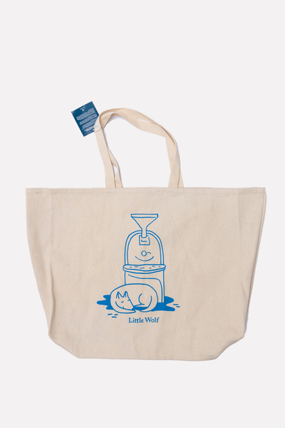 Little Wolf Illustration Tote Bag