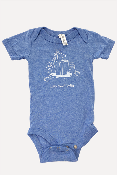 Little Wolf Christmas Baby Onesie