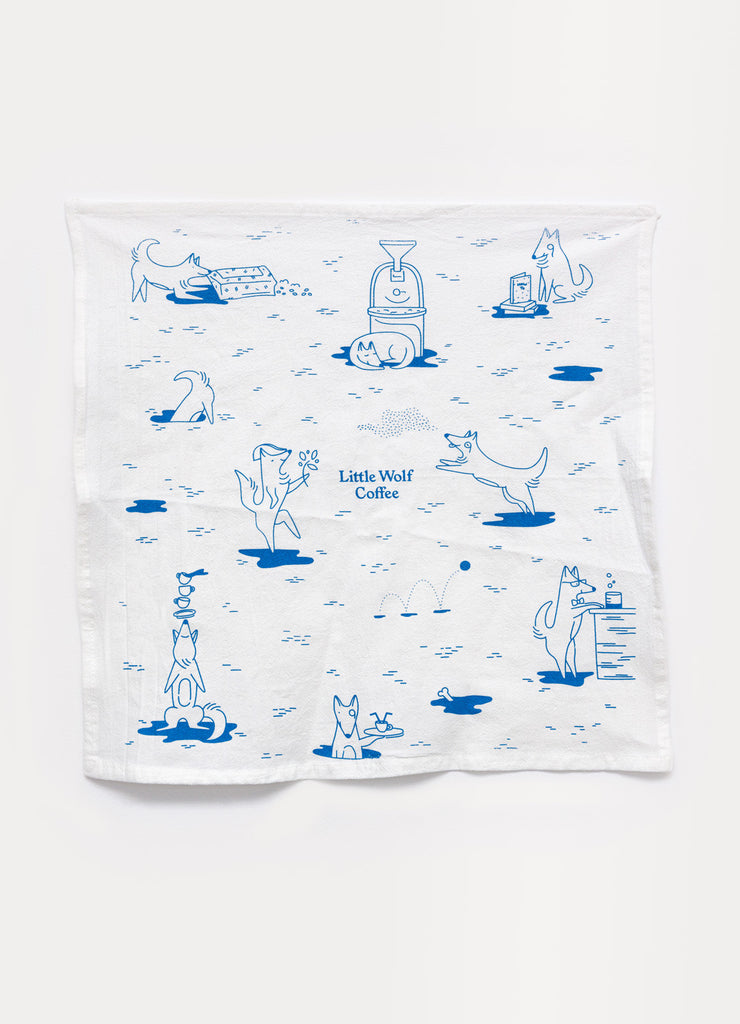 Little Wolf Illustrations Tea Towel