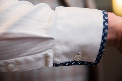 Bespoke dress shirt cuff