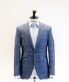 Reda Navy/Lavender Check Sports Jacket