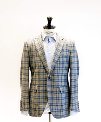 Loro Piana Taupe/Teal Sports Jacket