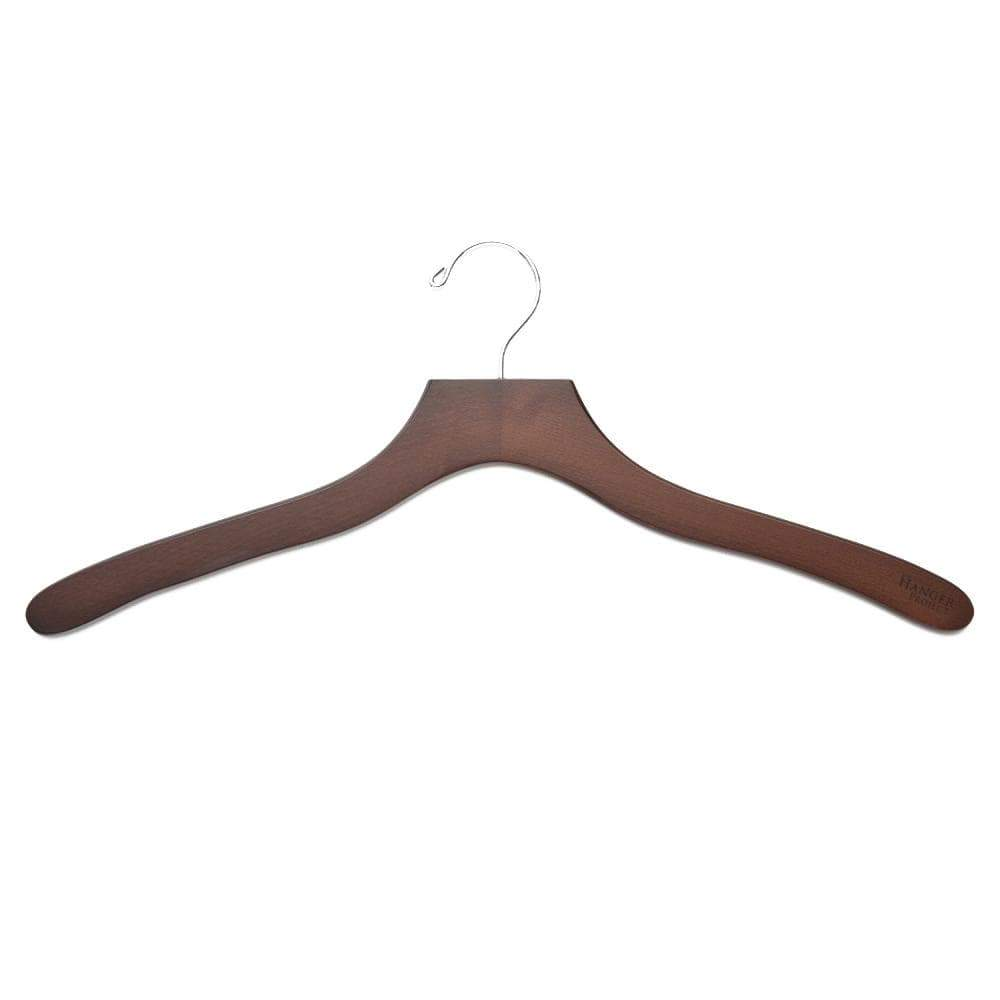 Luxury Wooden Shirt Hanger (Men's) Set of 5-Lingo Luxe Bespoke