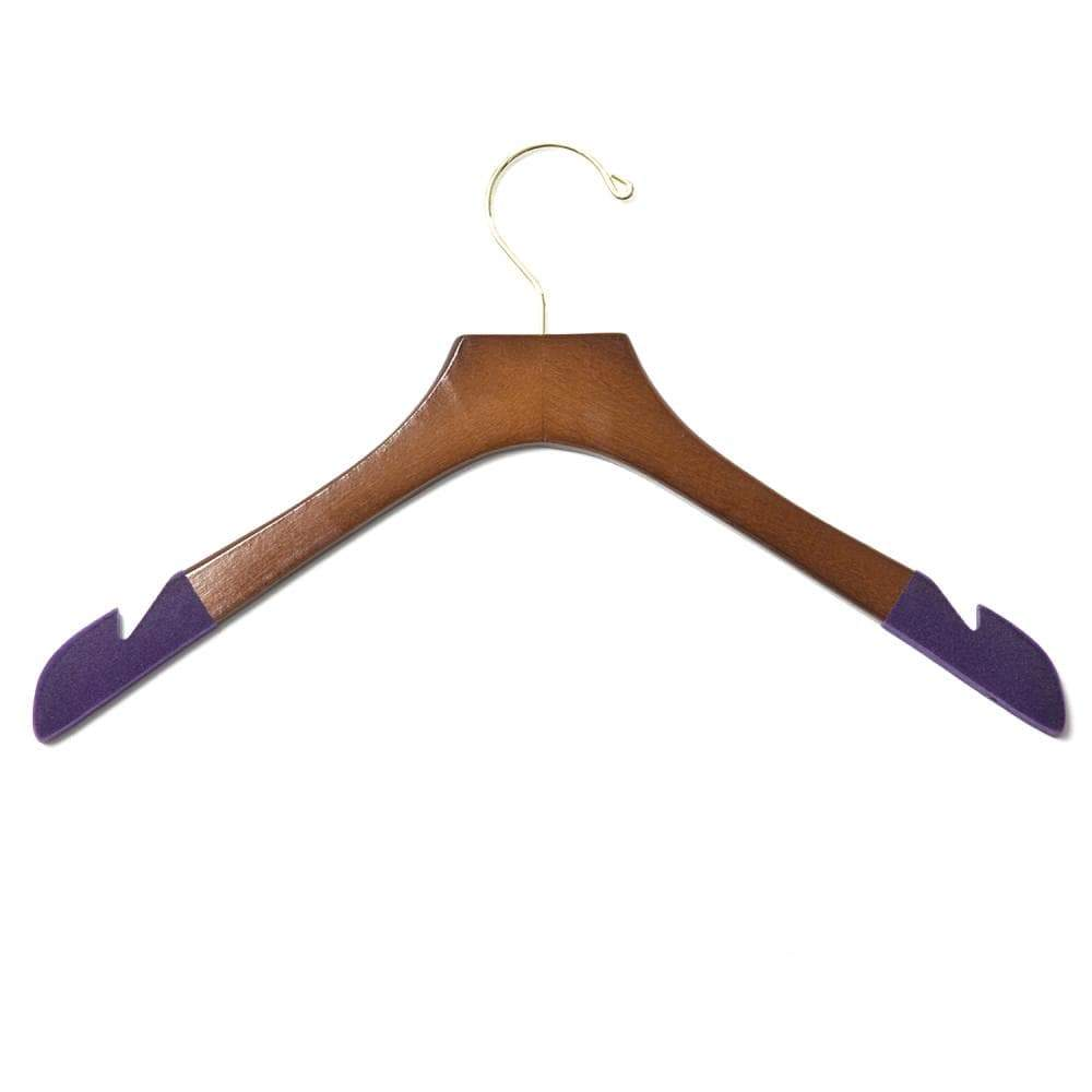 Luxury Wooden Shirt Hanger (Women's) Set of 5-Lingo Luxe Bespoke