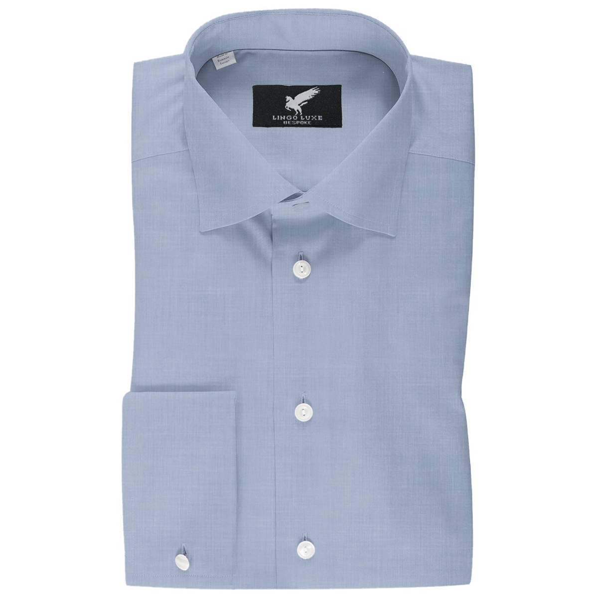 Men's Business Basics Shirt | Lingo Luxe Blue-Lingo Luxe Bespoke