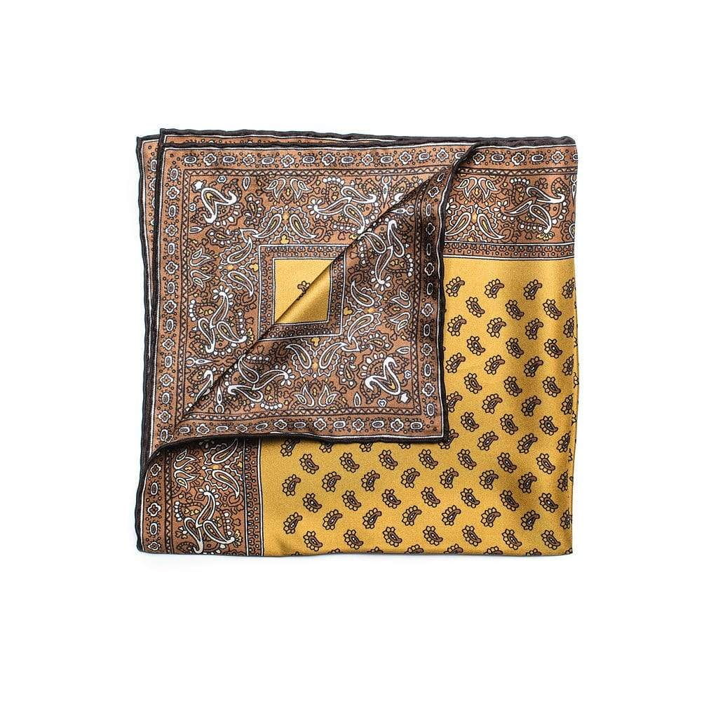 Men's Pocket Square | Lingo Luxe The Butterscotch-Lingo Luxe Bespoke