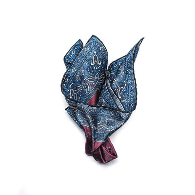 Men's Pocket Square | Lingo Luxe The Claret-Lingo Luxe Bespoke