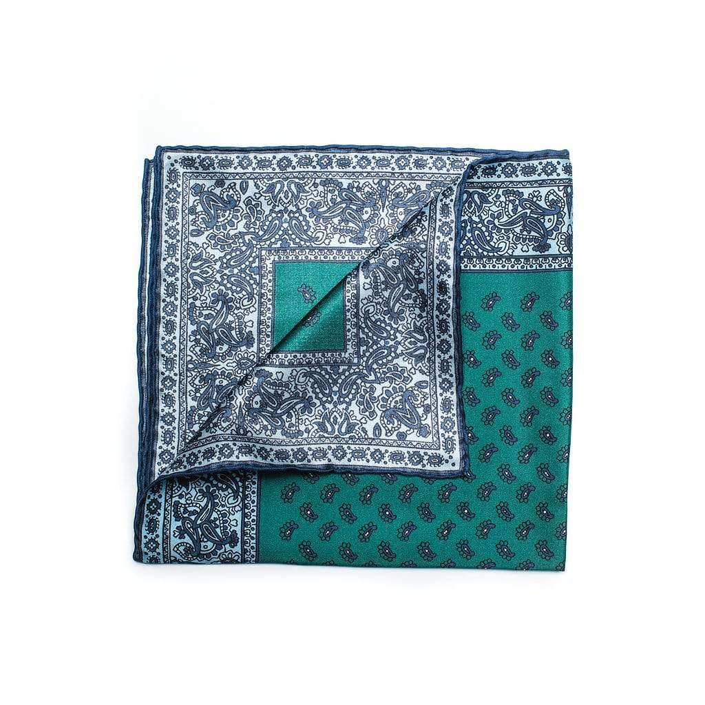 Men's Pocket Square | Lingo Luxe The Forest-Lingo Luxe Bespoke