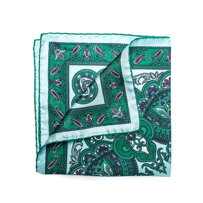 Men's Pocket Square | Lingo Luxe The Meadow-Lingo Luxe Bespoke