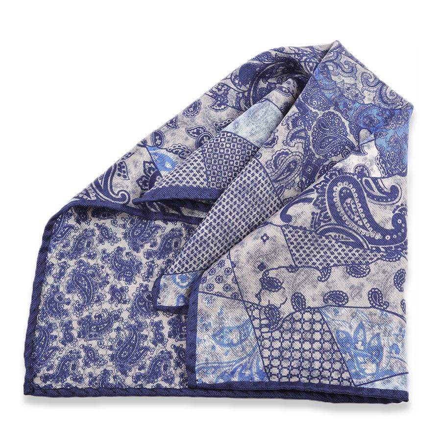Men's Pocket Square | Lingo Luxe The Naval-Lingo Luxe Bespoke